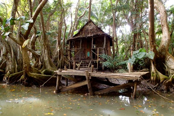 Tia Dalma's Shack from Pirates of the Caribbean 2 on The Indian River, Dominica | SBPR